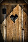 Antique Outhouse Framed Prints - The Love Shack - Outhouse Framed Print by Paul Ward