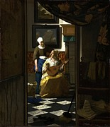 Lute Prints - The Loveletter Print by Johannes Vermeer