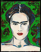 Rivera Mixed Media Framed Prints - The Lovely Frida Kahlo Framed Print by Mary C Wells