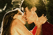 Boy Digital Art Originals - The Lovers by Amyn Nasser