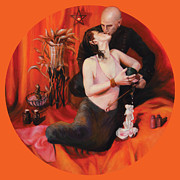 Orange Chakra Posters - The Lovers Poster by Shelley Irish