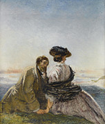 Lovers Digital Art - The Lovers by William Powell Frith