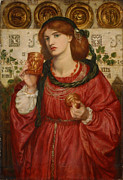 Rossetti Painting Framed Prints - The Loving Cup Framed Print by Dante Gabriel Rossetti