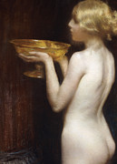 Gold Color Posters - The Loving cup Poster by Janet Agnes Cumbrae-Stewart