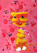 Steps Painting Posters - The lucky Cat Poster by Stefan Kuhn