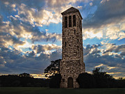 Dramatic Skies Framed Prints - The Luray Singing Tower Framed Print by Lara Ellis