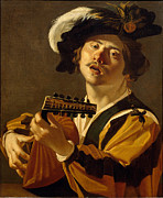 Famous Artists - The Lute Player by Dirck van Baburen