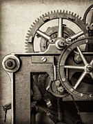 Machinery Photo Framed Prints - The Machine Framed Print by Martin Bergsma