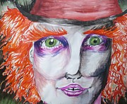 Mad Hatter Painting Framed Prints - The Mad Hatter Framed Print by Isobelle Rothery-Smith