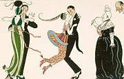 Couples Painting Prints - The Madness of the Day Print by Georges Barbier