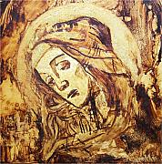 Religious Prints Mixed Media - The Madonna of Medjugorje by Sinisa Saratlic