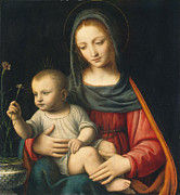 Famous Artists - The Madonna of the Carnation by Bernardino Luini