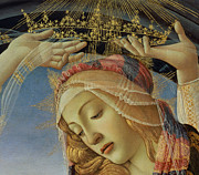 Crowned Head Posters - The Madonna of the Magnificat Poster by Sandro Botticelli