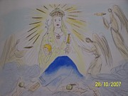 Signed Mixed Media Originals - The Madonna by Salvador Dali