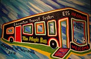 Bus Mixed Media - The Magic Bus by Douglas W Warawa