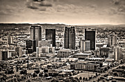 Sec Framed Prints - The Magic City Sepia Framed Print by Ken Johnson