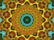 Kaleidoscopic Posters - The Magic Cottage 1 Poster by Wendy J St Christopher