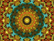 Kaleidoscopic Posters - The Magic Cottage 2 Poster by Wendy J St Christopher
