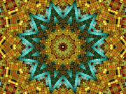 Kaleidoscopic Posters - The Magic Cottage 3 Poster by Wendy J St Christopher