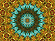 Kaleidoscopic Posters - The Magic Cottage 5 Poster by Wendy J St Christopher