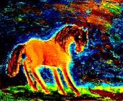 Amble Paintings - The Magic horse by Hilde Widerberg