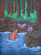Salmon Pastels Prints - The Magic Salmon Print by Diana Haronis