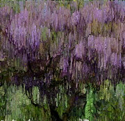 Wisteria Mixed Media Prints - The Magic Tree 4 Print by Kume Bryant