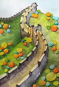 Nursery Paintings - The Magical Great Wall by Oiyee  At Oystudio