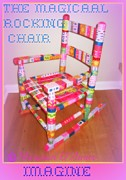 Magical Sculpture Posters - The Magical Rocking Chair Number 2 Poster by Maryann  DAmico