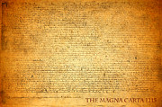 Parchment Framed Prints - The Magna Carta 1215 Framed Print by Design Turnpike