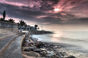 Puerto Vallarta Posters - The Malecon Poster by Edward Kreis