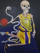 Nba Paintings - The Mamba Strikes by Visual  Renegade Art
