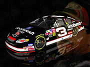 Nascar Paintings - The Man in Black by Scott B Bennett