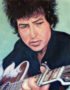 Bob Dylan Paintings - The Man in Me by Tom Roderick