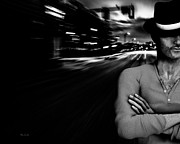 Noir Photos - The Man In The Hat Returns by Bob Orsillo