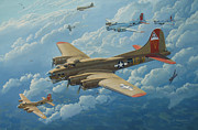 Bomber  Painting Prints - The Man O War II Print by Steven Heyen