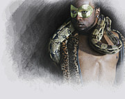 The Man Digital Art - The man  The snake by Jeff Burgess