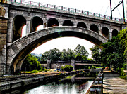 Phila Posters - The Manayunk Bridge over the Canal Poster by Bill Cannon
