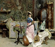 Furniture Store Paintings - The Mandolin Shop by Vincenzo Capobianchi