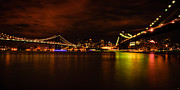 Chris Lord - The Manhattan and Brooklyn Bridges at Night