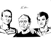 Eli Manning Prints - the Mannings Print by Tamir Barkan