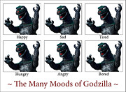 Cult Art - The Many Moods of Godzilla by William Patrick