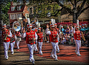 Marching Acrylic Prints - The Marching Band Acrylic Print by Lee Dos Santos