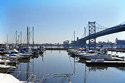 Franklin Art - The Marina at Penns Landing  by Bill Cannon