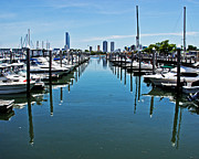 Boaters Photo Prints - The Marina At The Golden Nugget Print by Gallery Three