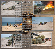 Tom Boy Posters - The Marine Corp Hymn Poster by Thomas Woolworth