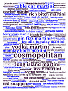 Phrase Prints - The Martini 20130628whi Print by Wingsdomain Art and Photography
