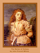 Images Of Woman Framed Prints - The Martyr of the Solway Poster Framed Print by John Everett Millais