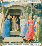 Fra Posters - The Marys at the Tomb Poster by Fra Angelico