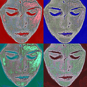 Abstract Acrylic Prints - The Mask Print by Stylianos Kleanthous